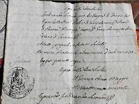 REGNO DELLE DUE SICILIE COLONNA P.SSA DI CASTIGLIONE CORPOSO MANOSCRITTO 1800