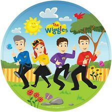 The Wiggles Party Supplies Round Dinner Party Plates - Pack of 8 - 23cm (CT)