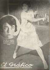 El Grafico Magazine Analia O Aguirre Tennis Player On Cover 1927