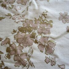 50CM X 60CM vintage cotton fabric 1950S Pink Blossom Upholstery Curtain Retro