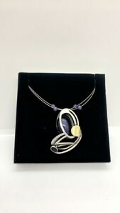 Christophe Poly Double Wire Abstract Round And Oval Purple Necklace Choker