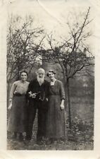 Real Photograph Two Ladies with Captain Wilson dated 1922 (RPP)