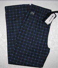 Lacoste Mens Pajama Bottoms Lounge Pants Blue All Over Logo Blue Medium NWT