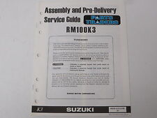 OEM Suzuki Assembly PDI Pre-Delivery Inspection Setup Service Guide RM100 RM 100