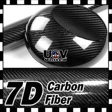 4' x 5' 7D Premium Hi Gloss Black Carbon Fiber Vinyl Wrap Bubble Free Release U2