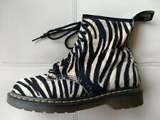0205df6c6cf2 DOC DR. MARTENS ZEBRA PRINT PONY HAIR-ON REAL FUR LEATHER BOOTS RARE UNISEX