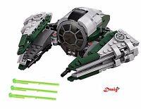 Lego Star Wars - Yoda's Jedi Starfighter from 75168 - NO BOX OR MINIFIGURES*
