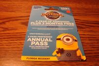Collectable 2015 UNIVERSAL Orlando Resort YEAR Power Pss  NO VALUE  MINONS
