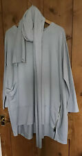 Dove Grey Lagenlook Tunic With Scarf L-Xl
