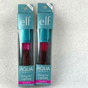 Lot 2 ELF Dewy Berry Aqua Beauty Radiant Gel Lip Tint (57041) 0.20 fl oz ea NEW