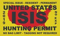 ISIS Terrorist Hunting Permit Funny Car Window Decal Bumper Sticker