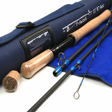 Switch 7WT Fly Fishing Rod SK Carbon Medium Action 11FT 4 Section Fly Rod