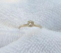 Vintage 14K Yellow Gold Diamond Engagement Ring Size 5