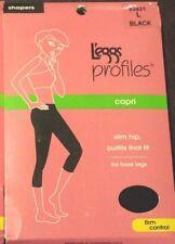 46614ae3c1 L eggs Profiles Capri Firm Control Shapers Size L Black Slim Hip  93431