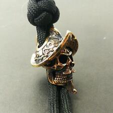 Conquistador 2# Paracord Bead Bracelet Solid Bronze Handmade Lanyard Knife Beads