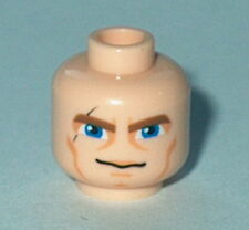 HEAD MF007 Lego Male Brown Thick Eyebrows, Blue Eyes, Scars NEW Anakin Flesh