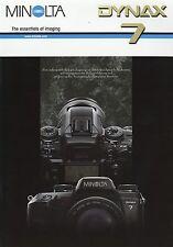 Prospekt brochure Minolta Dynax 7  8 02 2002 Spiegelreflexkamera Kamera Werbung