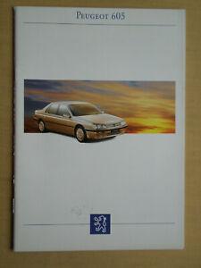 008 Prospekt PEUGEOT 605 1993