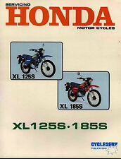SHOP MANUAL HONDA XL125S XL185S SERVICE REPAIR BOOK HAYNES CLYMER CHILTON