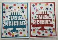 Stampin Up Happy Birthday Card KIT Of 6 - w/ Sequins