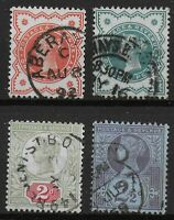 1887 Jubilee 1/2d.(1887),1/2d.(1900), 2d.and 2&1/2d.  Very Fine Used.  Ref.0976