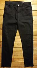 AG Adriano Goldschmied High Rise Stevie Ankle Skinny Jeans Size 28R Black