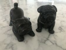 Twin  English Bulldog Figurines