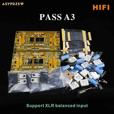 HIFI PASS A3 Single-ended Class A power amplifier DIY Kit 30W+30W Support XLR IN