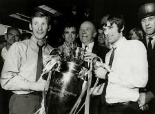 """MANCHESTER UNITED GEORGE BEST with Busby Crerand + European Cup 6""""x4""""  REPRINT"""