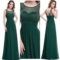 dress evening party prom bridesmaid long gown ball formal chiffon women wedding