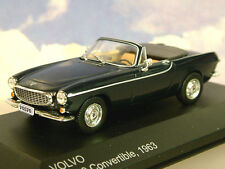 EXCELLENT WHITEBOX DIECAST 1/43 1963 VOLVO P1800 CONVERTABLE DARK BLUE WB196