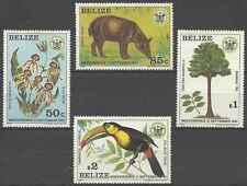 Timbres Flore Animaux Oiseaux Bélize 562/5 ** lot 3293