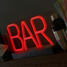 Lumiletter Red Light Neon Bar Sign LED Accessories Home Light Up