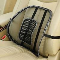 1X Black Back Lumbar Waist Massage Cushion Support Pad for Car Seat Office Chair