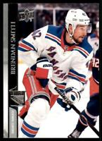 2020-21 UD Series 2 Base French #377 Brendan Smith - New York Rangers