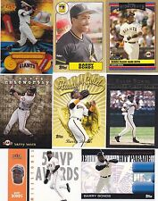 Barry Bonds Lot of 8 insert cards die cut  topps gold  rookie of the week