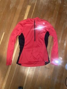 Pearl Izumi Select Cycling Women's Jersey Red Long Sleeve Large