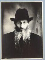 Antique Photo Art Print Portrait Jewish Man Black Hat and Coat Long Beard