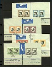 South West Africa 1937 KGVI Coronation registered airmail first day cover Stamps