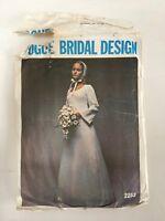 "Vintage 1970s VOGUE 2253 BRIDAL WEDDING Original Pattern size 16 bust 38"""