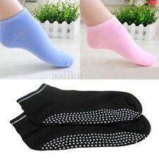 New Women Pilates Yoga Non Slip Grip Solid Cotton Dance Sport Massage Ankle Sock