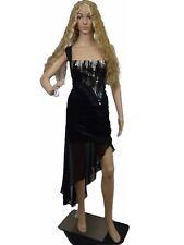 Bebe Women Dress One Shoulder Metallic Shiny Wrapped Draped Chiffon Flowy Small