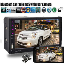 """7"""" 2Din Autoradio Lettore MP5 FM Stereo Bluetooth Touch Screen+Mirror Telecamera"""
