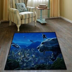 Black Panther  Area Rug Living room Bedroom Carpet Hallway Floor Non Slip Mat
