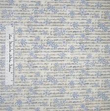 Moda Fabric - Christmas Countdown Deb Strain Music Note Snowflake Beige Yd