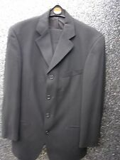 MANS BLACK  2 PC SUIT HUGO BOSS USED V.G.COND
