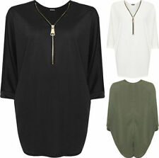 Hip Length Polyester V Neck Plus Size T-Shirts for Women