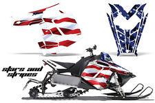 AMR Racing Sled Wrap Polaris Pro RMK Rush Snowmobile Graphics Kit 11-14 USA FLAG