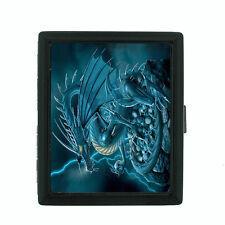 Metal Cigarette Case Holder Box Dragon Design-004 Custom Mythical Creatures