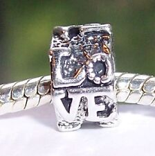 Love Ring Sweetheart Large Hole Bead fits Silver European Style Charm Bracelets
